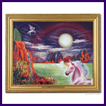 Unicorn Dreams Oil Painting